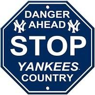 """New York Yankees Acrylic Wall Stop Sign 12"""" x 12"""" MLB Licensed"""
