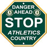 "Oakland Athletics Acrylic Wall Stop Sign 12"" x 12"" MLB Licensed"