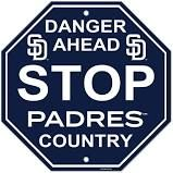 "San Diego Padres Acrylic Wall Stop Sign 12"" x 12"" MLB Licensed"