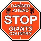 "San Francisco Giants Acrylic Wall Stop Sign 12"" x 12"" MLB Licensed"