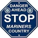 """Seattle Mariners Acrylic Wall Stop Sign 12"""" x 12"""" MLB Licensed"""