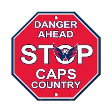 "Washington Capitols Acrylic Wall Stop Sign 12"" x 12"" NHL Licensed"
