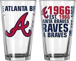 Atlanta Braves Gameday 16oz Pint Glass 16oz. MLB