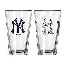 New York Yankees Gameday 16oz Pint Glass 16oz. MLB