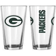 Green Bay Packers Gameday 16oz Pint Glass 16oz. NFL