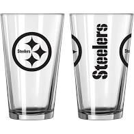 Pittsburgh Steelers Gameday 16oz Pint Glass 16oz. NFL