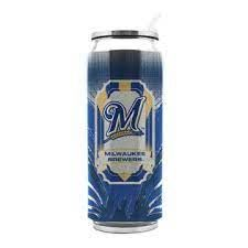 Milwaukee Brewers Insulated Stainless Steel Thermo Can Travel Tumbler MLB