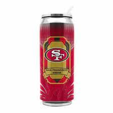 San Francisco 49ers Insulated Stainless Steel Thermo Can Travel Tumbler NFL
