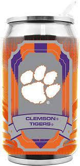 Clemson Tigers Insulated Stainless Steel Thermo Can Travel Tumbler NCAA