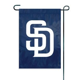 "San Diego Padres Garden Flag Embroidered 12.5"" x 18"""