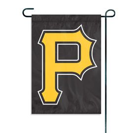 "Pittsburgh Pirates ""P"" Garden Flag Embroidered 12.5"" x 18"""