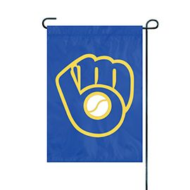 "Milwaukee Brewers Garden Flag Embroidered 12.5"" x 18"""