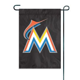 "Miami Marlins Garden Flag Embroidered 12.5"" x 18"""