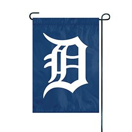 "Detroit Tigers Flag Embroidered 12.5"" x 18"""