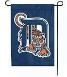 """Detroit Tigers Flag Embroidered 12.5"""" x 18"""" with Tiger"""
