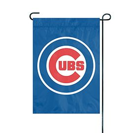 """Chicago Cubs Flag Embroidered 12.5"""" x 18"""""""