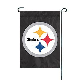 NFL Pittsburgh Steelers Black Embroidered Garden Flag