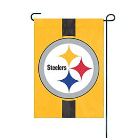 NFL Pittsburgh Steelers Yellow Embroidered Garden Flag