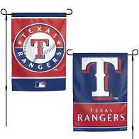 """Texas Rangers 2 Sided Garden Flag 12"""" x 18"""""""