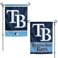 "Tampa Bay Rays 2 Sided Garden Flag 12"" x 18"""