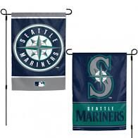 """Seattle Mariners 2 Sided Garden Flag 12"""" x 18"""""""