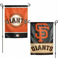 """San Francisco Giants 2 Sided Garden Flag 12"""" x 18"""""""