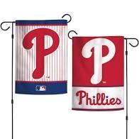 """Philadelphia Phillies 2 Sided Garden Flag 12"""" x 18"""""""