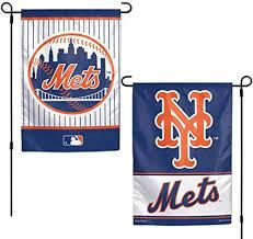 "New York Mets 2 Sided Garden Flag 12"" x 18"""