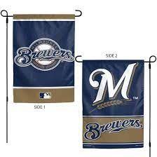 "Milwaukee Brewers 2 Sided Garden Flag 12"" x 18"""