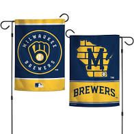 "Milwaukee Brewers ""State"" 2 Sided Garden Flag 12"" x 18"""