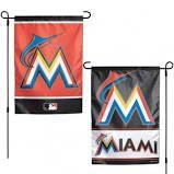 """Miami Marlins 2 Sided Garden Flag 12"""" x 18"""""""