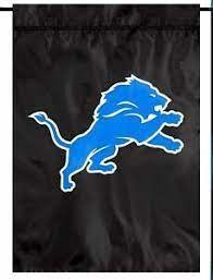"Detroit Lions ""Black"" Embroidered Garden Flag"