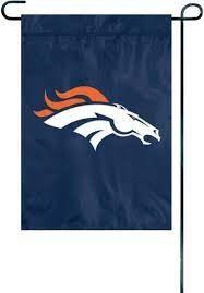 Denver Broncos Embroidered Garden Flag