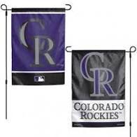 "Colorado Rockies 2 Sided Garden Flag 12"" x 18"""