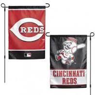 "Cincinnati Reds 2 Sided Garden Flag 12"" x 18"""
