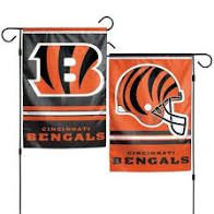 Cincinnati Bengals NFL 2 Sided Garden Flag