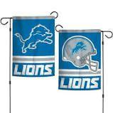 Detroit Lions NFL 2 Sided Garden Flag