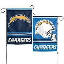 Los Angeles Chargers NFL 2 Sided Garden Flag