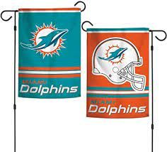 Miami Dolphins NFL 2 Sided Garden Flag