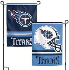Tennessee Titans NFL 2 Sided Garden Flag