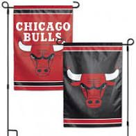 Chicago Bulls NBA 2 Sided Garden Flag