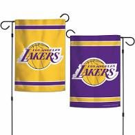 Los Angeles Lakers NBA 2 Sided Garden Flag