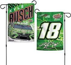 Kyle Busch NASCAR 2 Sided Garden Flag