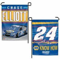 Chase Elliott NASCAR 2 Sided Garden Flag