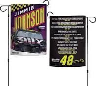 Jimmy Johnson NASCAR 2 Sided Garden Flag