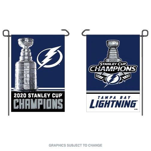 """Tampa Bay Lightning 2020 Stanley Cup Champions Garden Flag 2 Sided 12"""" x 18"""""""