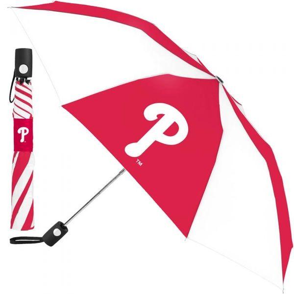 "Philadelphia Phillies Automatic Push Button Umbrella 42"" MLB Licensed"