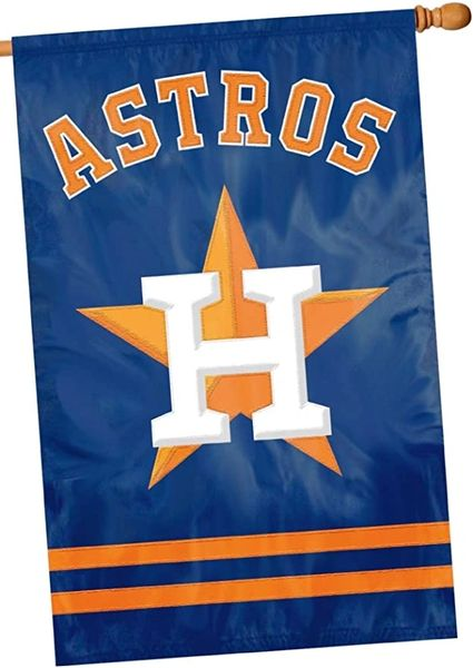 Houston Astros 2 Sided Embroidered Vertical House - Wall Flag