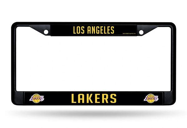 Los Angeles Lakers Black Chrome Metal License Plate Frame NBA