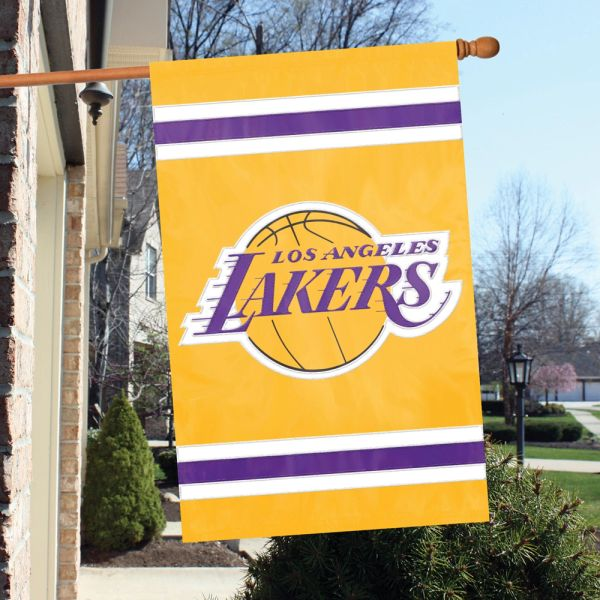 Los Angeles Lakers 2 Sided Embroidered Vertical House - Wall Flag